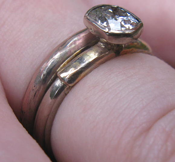 Wedding with engagement ring