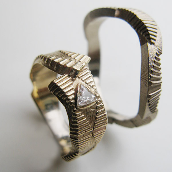 Stolen triangular diamond ring