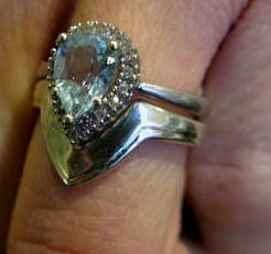 Made to round engagement ring